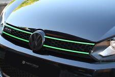 Neon parrilla Stripes VW Polo 6c 6r 9n3 9n 6n GTI pegatinas rayas lámina Carbon