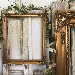 Beautiful LARGE Gilt /Old Gold Wooden Picture Painting Frame HIGHLY DECORATIVE