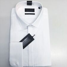 Cotton Blend Herringbone Double Cuff Formal Shirts for Men