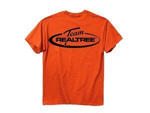 Team Realtree mens T-shirt hunter Orange black logo safety short sleeve L Large