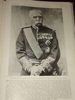 1897 Field Marshall Señor Donald Martin Stewart Bart Borgoña Ancho Raya