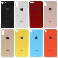 For iPhone 8 X XR XS Max Battery Cover Glass Rear Back Door Replacement Big Hole
