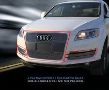 Fits 2007 2008 2009 2010 2011 2012 Audi Q7 Billet Grille Grill Combo