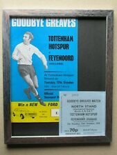More details for jimmy greaves original tottenham 1972 testimonial programme with repro match tic