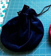 Tarot card, crystals, bag, pouch, BLUE VELVET.
