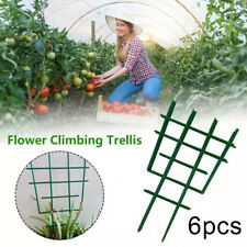 BL_ 6x Garden Climbing Plant Support Cage Trellis Flowers Stand Rings Tomato Veg