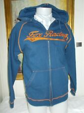 Pull gilet zip sweat à capuche FOX RACING S brodé en grand poche ventrale