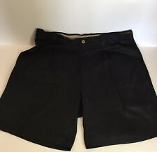 Tommy Bahama Men's Relax Shorts 100% Silk Front Pleated Navy  Blue Size 34 D14