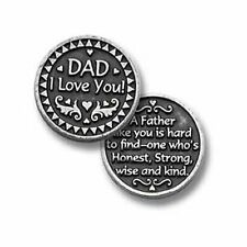 Dad I Love You Loving Gift Coin Pocket Token Father