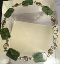 "BEAU 10 mm vert clair jade jadeite perles stretch bracelet jonc 7.5/"""