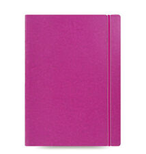 Filofax A4 Size Refillable Leather-Look Ruled Notebook Book Diary Fuchsia 115026