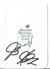 J.B. HOLMES PGA GOLF STAR SIGNED AUTOGRAPH MASTERS SCORECARD W/COA AUTHENTIC