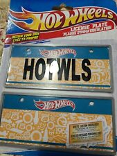 Hot Wheels License Plate Design Your Own Two Pack Great size for Bicycles