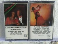 Jeannie and Jimmy Cheatham 2 Cassette Tape Lot Midnight Mama Sweet Baby Blues