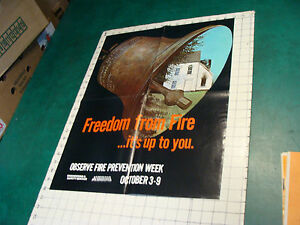 Original 1970's Fire Prevention Week Poster: Freedom from Fire...its up to you
