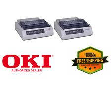 NEW IN BOX - 2 x OKI Data 62411601 Microline 320T 9-Pin Turbo Dot Matrix Printer