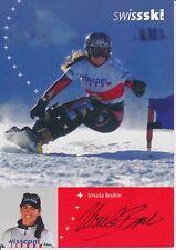 Ursula Bruhin ski alpin freestyle autografiada mapa original firmado 380153