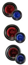 Prosport 52mm EVO Car Boost PSI + Oil Pressure + Oil Temp Red Blue Gauges