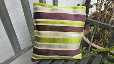 cushion cover heavy fabric soft velvet stripes and flowers 15 by 16 inch