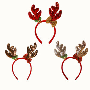 Christmas Headbands Reindeer Antlers Fancy Santa Xmas Party Kids Adult UK Seller