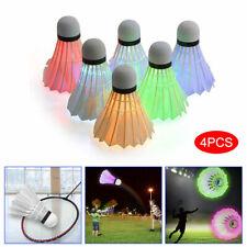 4 Pcs//Set LED Colorful Shuttlecocks Badminton Foam Balls Leisure Sport Games UK