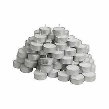 Glimma Candles Tealights, Pack of 100, White, 100-Piece UK STOCK 4HR BURN