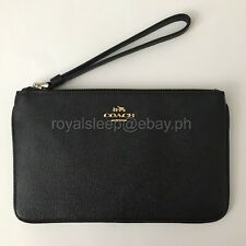 COACH Large Crossgrain Leather Wristlet **Brand New w/ Tag** Wallet