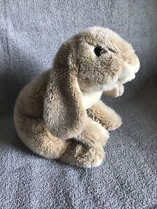 "Animal Alley Plush Bunny Rabbit Lop Ears Tan Bean Bag Realistic Toys R Us 13"""