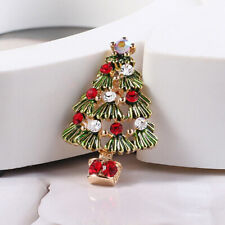 Vintage Brooch Christmas Tree Brooches Alloy Pins Jewelry Pins Gifts Party KV