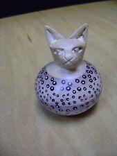 CAT sculpture feline paper weight carving decor