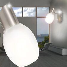 Wand Leuchte Lampe Strahler Beleuchtung Licht Nickel Glas G9 Wohnzimmer Diele