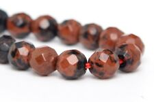 4MM Natural Mahogany Obsidian Beads Grade AAA Feacted Round Loose Beads 7.5""