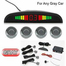 Gray Audio Wireless Car Reversing Reverse Parking 4 Sensor Kit Buzzer Alarm