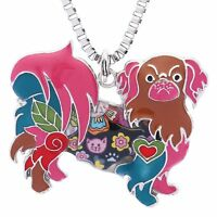 Pekingese Pendants Necklace for Women Birthday Gift Cute Pets Collection Jewelry