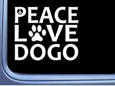 "Argentine Dogo Peace Love L640 Dog Sticker 6"" decal"