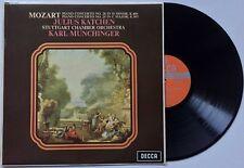 SXL 6297 OZ DECCA WBg KATCHEN MUNCHINGER MOZART Piano Concerto 20 & 25 EX/VG++