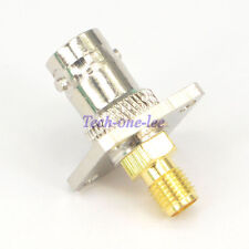 BNC female to SMA Female Adapter Connector 4 Hole panel Mount Antenna Converter