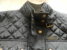 Ladies Donna Michael Kors Jacket Coat Navy Blue QUILT Taglia Small-S