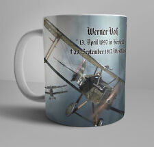 WWI German Patriotic Mug Werner Voss WW1 Flying Ace Pour le Merite Jasta10
