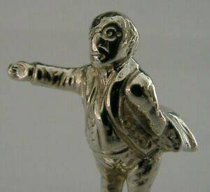 RARE MR PICKWICK SOLID CAST STERLING SILVER PIPE TAMPER LONDON 1898 VICTORIAN