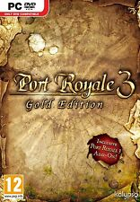 Computer PC Game Port Royale 3 Gold + Treasure Island Edition DVD Shipping NEW