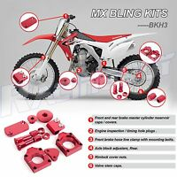 For 2002-2008 HONDA CRF450R RED BLING KIT CRF450X 2006-2016  MX Bling Kits Parts