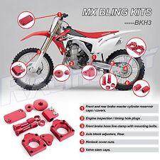 For 2002-2008 HONDA CRF450R RED BLING KIT CRF450X 2006-2016  MX Bling Kits Parts