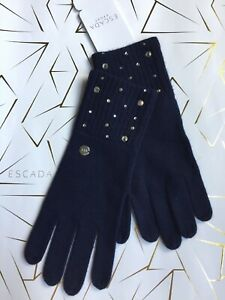 ESCADA Gloves Size: ONE SIZE fits all New SHIP FREE Wool / Cashmere Blend Knit