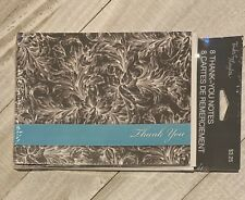 8 Thank You Cards With Envelopes Brand New Sealed Gracias Merci Thanks