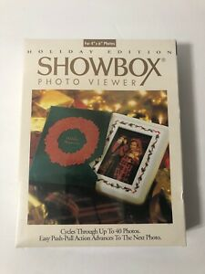 SHOWBOX Photo Album Viewer Holiday Edition 4 x 6 Cycles 40 Pictures, NEW NIB