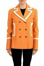 Just Cavalli Orange Double Breasted Women's Blazer Jacket US S IT 40
