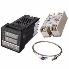 Rex C100 Digital Pid Temperature Controller Regulator K Thermocouple 40a Us Ebs