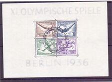 Deutsches Reich 1936 - Olympia Block 5 ESST gestempelt - Michel 90,00 € (019)