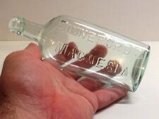 Antique Aqua Dinneford's Magnesia Bottle.